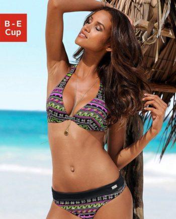 Buffalo Bügel-Bikini mit Ethnodruck und Kontrastdetails