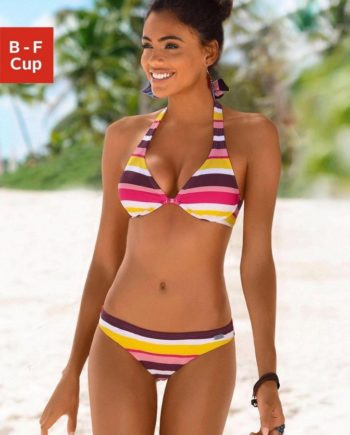 Buffalo Bügel-Bikini mit farbenfrohen Streifen
