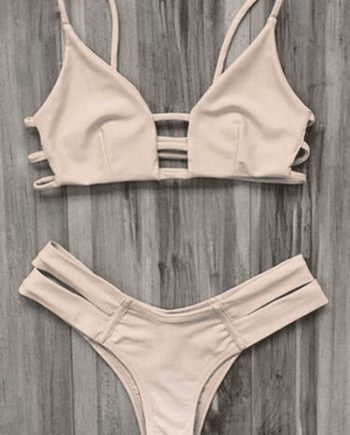 Caged Bandage Bikini Swimwear