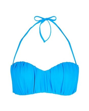 *DP Beach Blue Ruched Bikini Top
