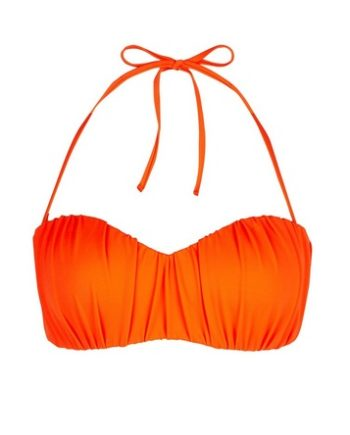 *DP Beach Orange Ruched Bikini Top