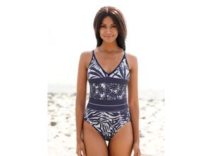 Damen Badeanzug Olympia marine-weiß