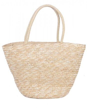 Geflochten Strandtasche Stroh Optik Shopper Beachtasche
