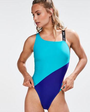 Hunkemöller HKMX One-Shoulder Badeanzug Blau