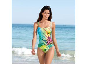 SunSelect®-Badeanzug Blumenwiese, 36 - Gelb/Grün/Pink, aus Polyester