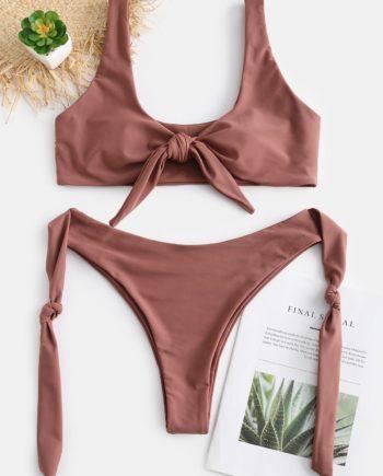 ZAFUL Knots High Cut Convertible Bikini Set