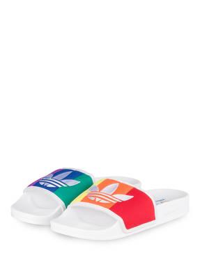 Adidas Originals Badeschuhe Adilette Pride weiss