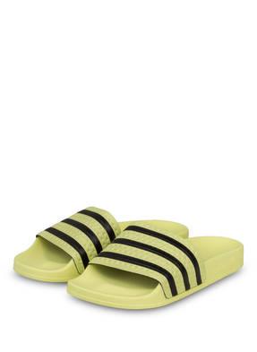 Adidas Originals Badeschuhe Adilette W gelb