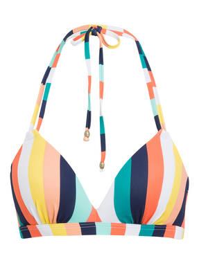 Beachlife Neckholder-Bikini-Top Candy Stripe gelb