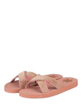 Flip*Flop Pantoletten Cross Glam rosa