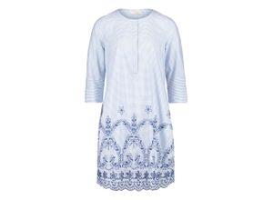 Sommerkleid mit Stickerei Vera Mont, Damen, blau, Gr. 40