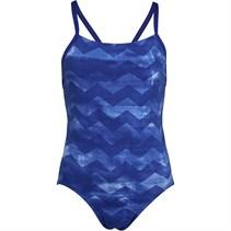 adidas Damen Allover Druck Badeanzug Dunkelkobaltblau