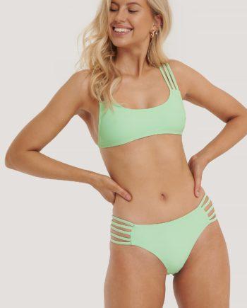 NA-KD Swimwear Strappy Vacay Bikini-Höschen - Green
