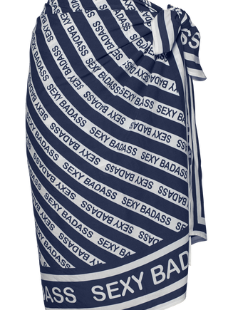Sexy Badass Pareo | Blue And White - One Size