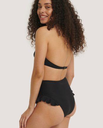 Trendyol Texturiertes Bikini-Unterteil Mit Rüschen - Black