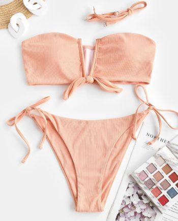 ZAFUL Orange Scheibendruck Wortspiel Bikini Badebekleidung