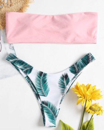 Bandeau Tropisches Bikini-Set