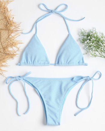 Gerippter String Bikini Set