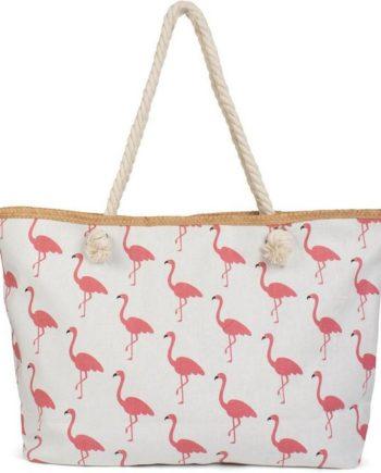 styleBREAKER Strandtasche, Strandtasche mit Flamingos