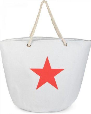 styleBREAKER Strandtasche, XXL Strandtasche mit Stern Print