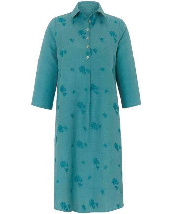 ANNA AURA Sommerkleid Kleid mit 3/4-Arm Sommerkleider türkis Damen Gr. 52