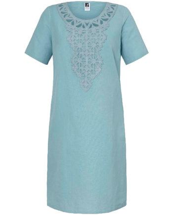 ANNA AURA Sommerkleid mit 1/2-Arm Sommerkleider aqua Damen Gr. 52