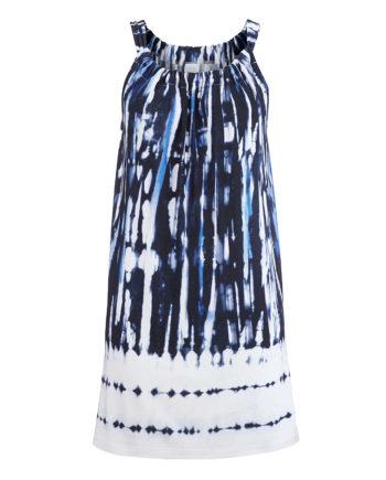 Alba Moda Shirt ohne arm Single Jersey Sommerkleider blau-kombi Damen Gr. 46