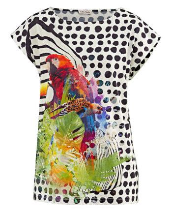 Alba Moda Shirt ohne arm Single Jersey Sommerkleider bunt Damen Gr. 36