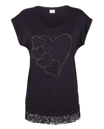 Alba Moda Shirt ohne arm Single Jersey Sommerkleider schwarz Damen Gr. 36