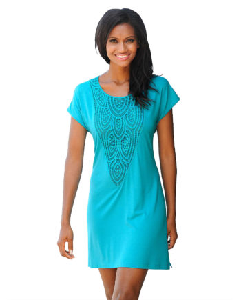 Alba Moda Shirt ohne arm Single Jersey Sommerkleider türkis Damen Gr. 36