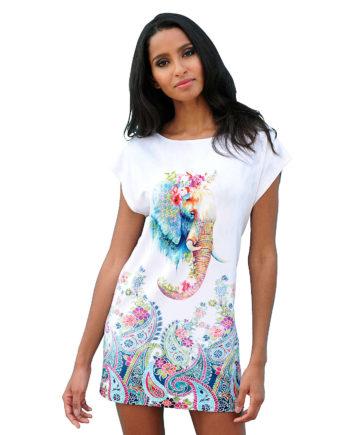 Alba Moda Shirt ohne arm Single Jersey Sommerkleider türkis Damen Gr. 44