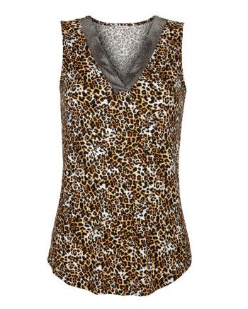 Alba Moda Shirttop ohne arm Single Jersey Sommerkleider beige Damen Gr. 36