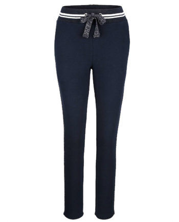 Alba Moda Strandhose Single Jersey Sommerkleider blau Damen Gr. 40