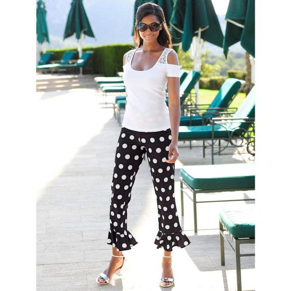 Alba Moda Strandhose Single Jersey Sommerkleider schwarz Damen Gr. 48
