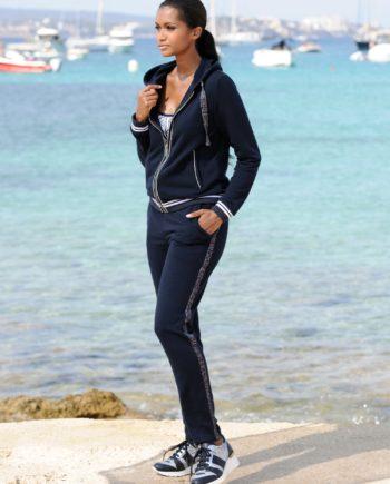 Alba Moda Strandhose mit Galonstreifen