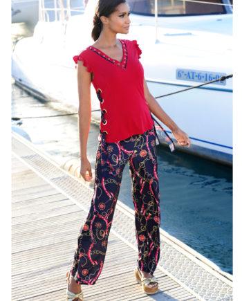 Alba Moda Strandhose mit attraktiver Bundlösung