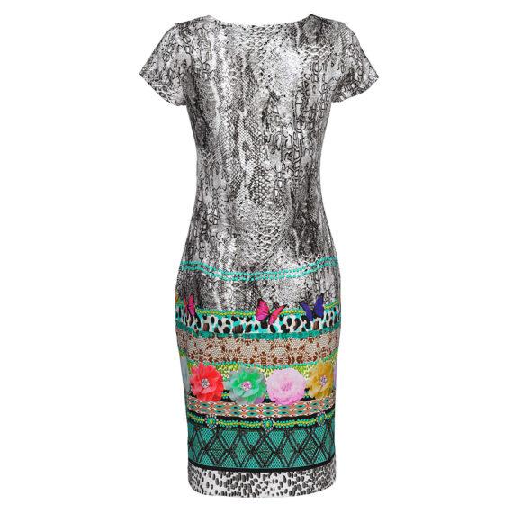 Alba Moda Strandkleid halbarm cm Single Jersey Sommerkleider grau Damen Gr. 44