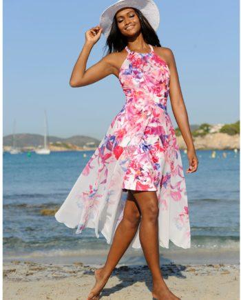 Alba Moda Strandkleid in Doppeloptik