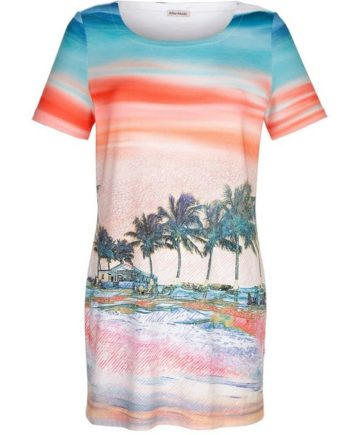 Alba Moda Strandkleid mit Fotodruck