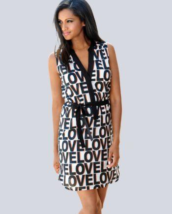 Alba Moda Strandkleid mit Schriftdruck