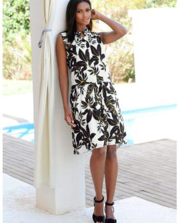 Alba Moda Strandkleid mit Stehkragen