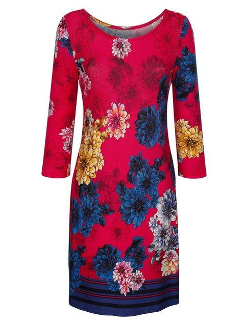 Alba Moda Strandkleid mit großzügigem Blütendruck