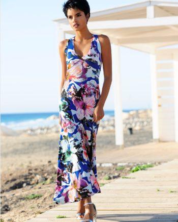 Alba Moda Strandkleid mit raffinierter Schnittführung