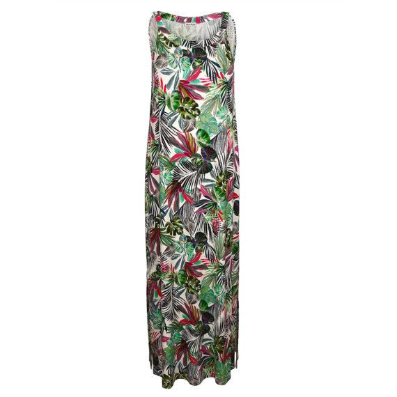 Alba Moda Strandkleid ohne arm Single Jersey Sommerkleider bunt Damen Gr. 36