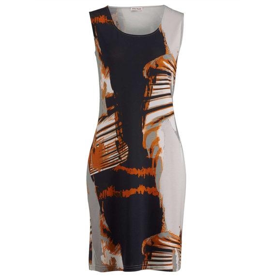 Alba Moda Strandkleid ohne arm Single Jersey Sommerkleider schwarz Damen Gr. 38