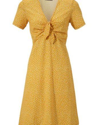 Aniston CASUAL Sommerkleid mit Bindeband zum Knoten am Dekolleté