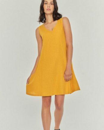 Apricot Sommerkleid