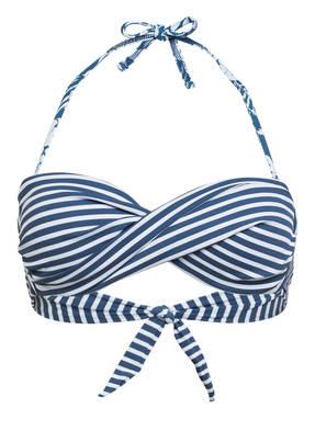 Banana Moon Bandeau-Bikini-Top blau