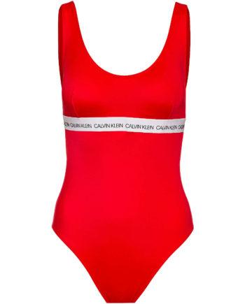 Calvin Klein Badeanzug Badeanzüge rot Damen Gr. 36A