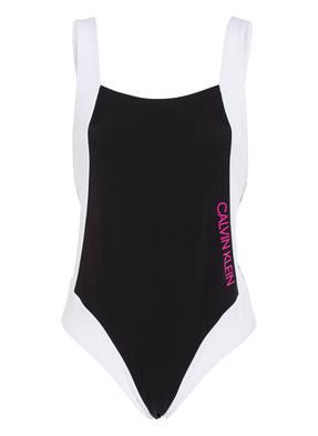 Calvin Klein Badeanzug Ck Blocking schwarz